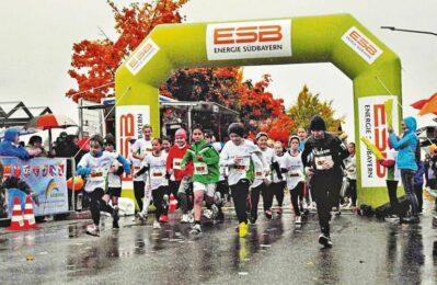 Start ILE-Gäubodenlauf 2017 trotz Regen