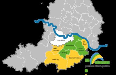 Einführung des ILE Gäubodenschecks: Salching, Aiterhofen, Straßkirchen; geplante Erweiterung: Feldkirchen, Leiblfing, Oberschneiding, Irlbach;
